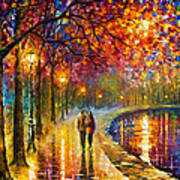Spirits By The Lake - Palette Knife Oil Painting On Canvas By Leonid Afremov Poster
