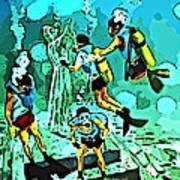 Spiritual Experience Of Scuba Diving Poster