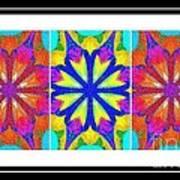 Spirituality - Life Lights - Kaleidoscope - Triptych Poster