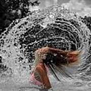 Hair Flip Splash Poster
