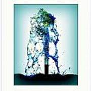 Splashing Fountain Poster