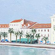 Split Croatia Adriatic Coast Poster