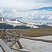 Split Rail Fence Near Alpine Visitor's Center In Rocky Mountain Np-co Poster