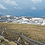 Split Rail Fence On East Side Of Trail Ridge Road In Rocky Mountain National Park-colorado Poster