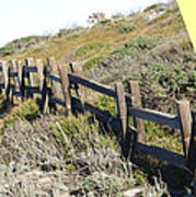 Split Rail Fence Yellow Poster by Barbara Snyder