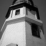 Splitrock Lighthouse 3 Bw Poster