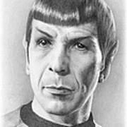 Spock - Fascinating Poster by Liz Molnar