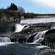 Spokane Falls At Low Tide Poster
