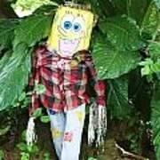 Sponge Bob Scarecrow Poster