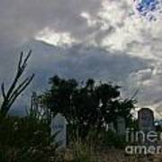 Spooky Boot Hill Cemetery Poster