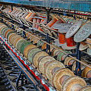 Spools At Lonaconing Silk Mill Poster