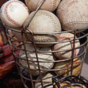 Sports - Baseballs And Softballs Poster by Art Block Collections