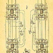 Sprague Electric Railway Patent Art 1885 Poster