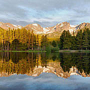 Sprague Lake Reflections Poster