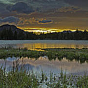 Sprague Lake Sunrise Poster by Tom Wilbert