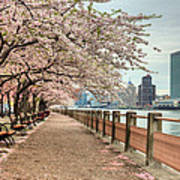 Spring Along The East River Poster