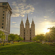 Spring At Temple Square Poster