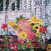 Spring Basket Poster by Linda Vaughon