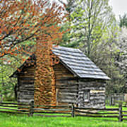 Spring Cabin I - Blue Ridge Parkway Poster by Dan Carmichael