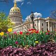 Spring Comes To Wv Capitol Poster