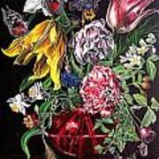 Spring Flower Bouquet Poster