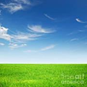 Spring Green Landscape Poster