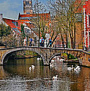 Spring In Bruges Poster