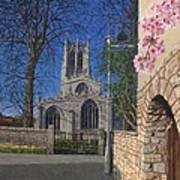 Spring Morning Brides Cottage Tickhill Yorkshire Poster