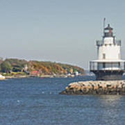 Spring Point Ledge Lighthouse On The Maine Coast Poster