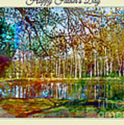Spring Pond Photoart Father's Day Poster