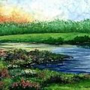Spring Pond Poster
