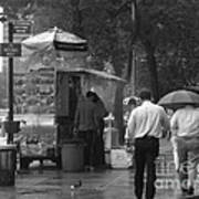 Spring Shower - Rainy Day In New York Poster