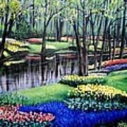Spring Spendor Tulip Garden Poster