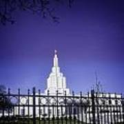 Spring Time At The Idaho Falls Temple Poster