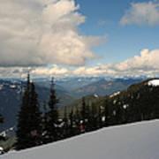 Spring Time Skiing At Crystal Poster