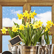 Spring Window Poster by Amanda And Christopher Elwell