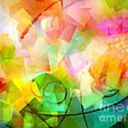 Springtime Abstract Poster