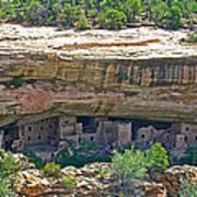 Spruce Tree House Pueblo On Chapin Mesa In Mesa Verde National Park-colorado Poster