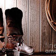 Spurs On Cowboy Boots Heels Poster