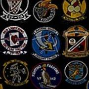 Squadron Patch Collage Poster
