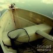 Square Polaroid Fishing Boat Poster