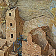 Square Tower House Closeup On Chapin Mesa Top Loop Road In Mesa Verde National Park-colorado Poster
