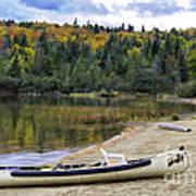 Squareback Canoe With Engine Poster
