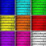 Squared Color Wall  Poster