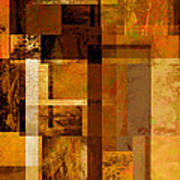 Squares And Rectangles Poster by Ann Powell