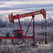 Squeaky Old Pump Jack Poster by Kelly Kitchens