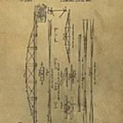 Squire Whipple Truss Bridge Patent Poster