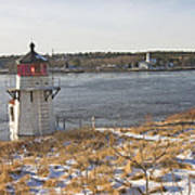 Squirrel Point Lighthouse Kennebec River Maine Poster by Keith Webber Jr