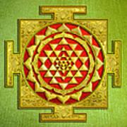 Sri Gold Yantra Poster by Lila Shravani
