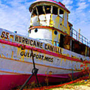 Ss Hurricane Camille Tugboat Poster